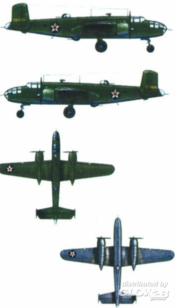 Trumpeter 06201 North American B-25 B Mitchell in 1:350