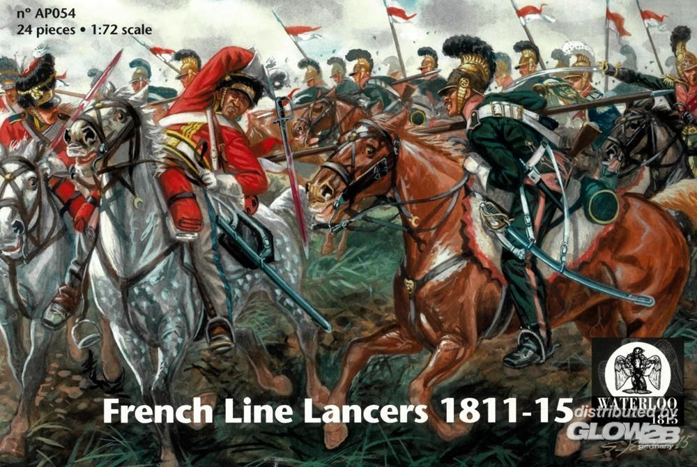 WATERLOO 1815 AP054 French Line Lancers 1811-15 in 1:72