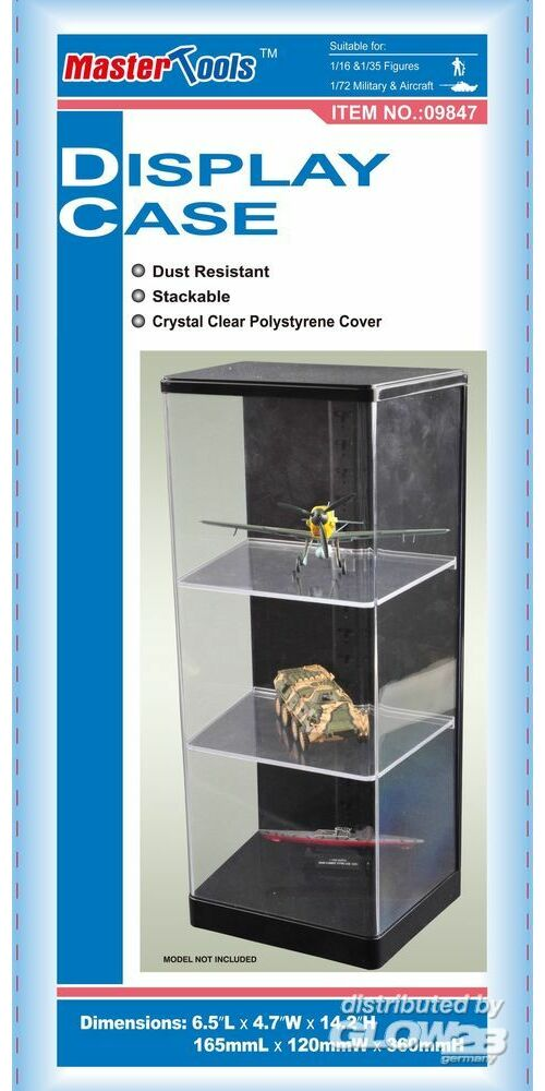 Master Tools 09847 Display Case 165x120x360mm in 1:72