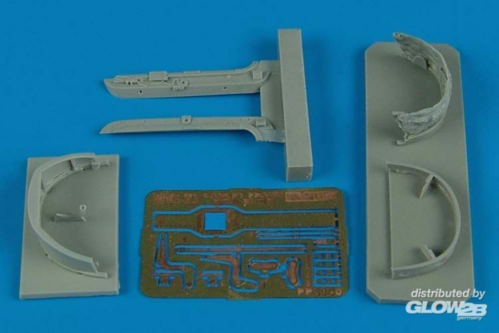 Aires 2140 MiG-23 flogger canopy frame (TRU) in 1:32