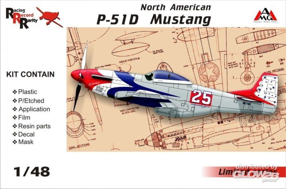 AMG AMG48501 North American P-51D Mustang in 1:48