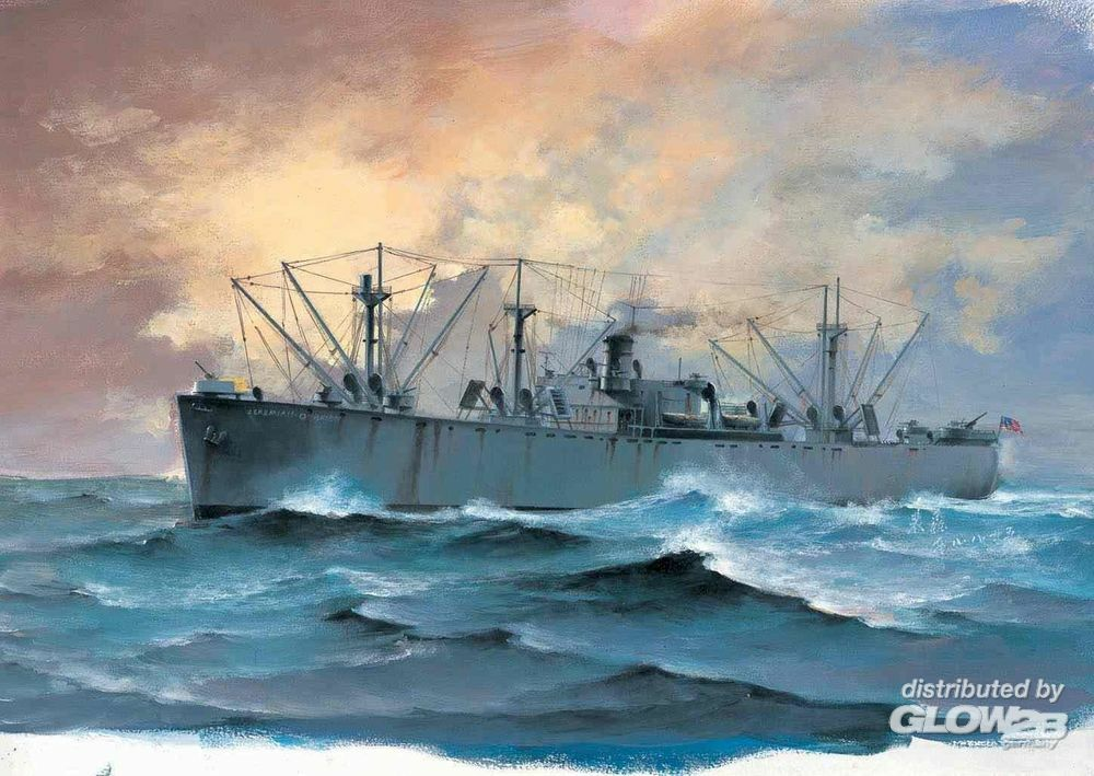 Trumpeter 05755 SS Jeremiah O`Brien Liberty Ship in 1:700