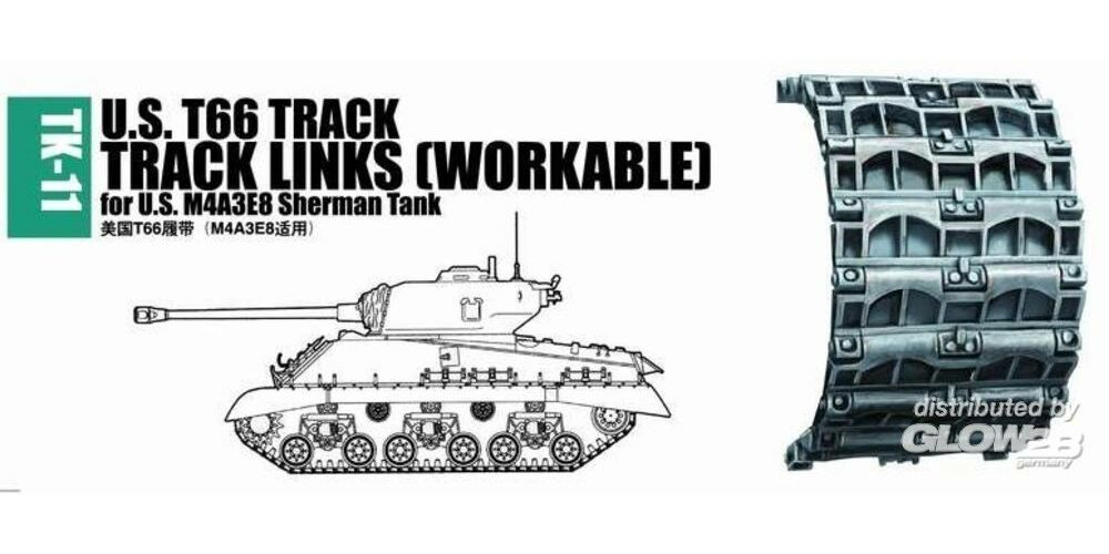 Trumpeter 02041 U.S. T66 track for M4A3E8 Sherman tank