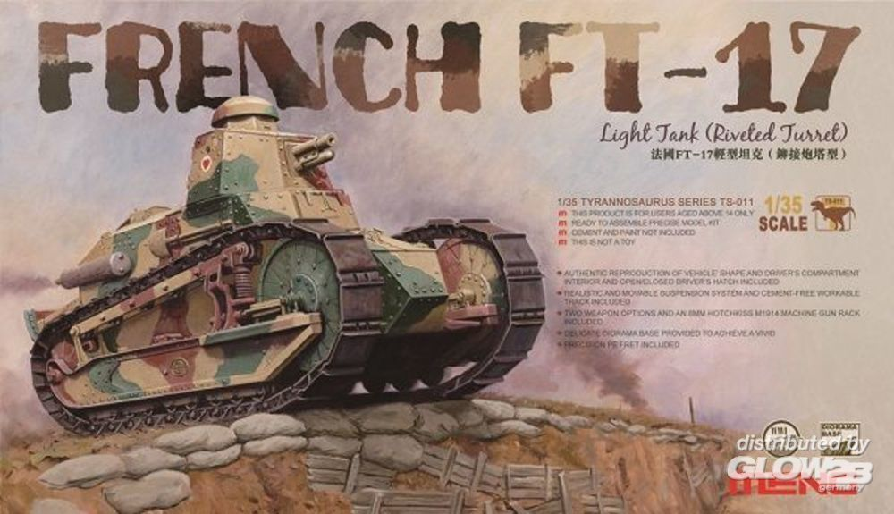 MENG-Model TS-011 French FT-17 Light Tank (Riveted Turret) in 1:35