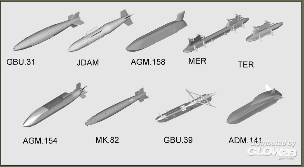 Trumpeter 03305 US aircraft weapons - Guided Bombs in 1:32