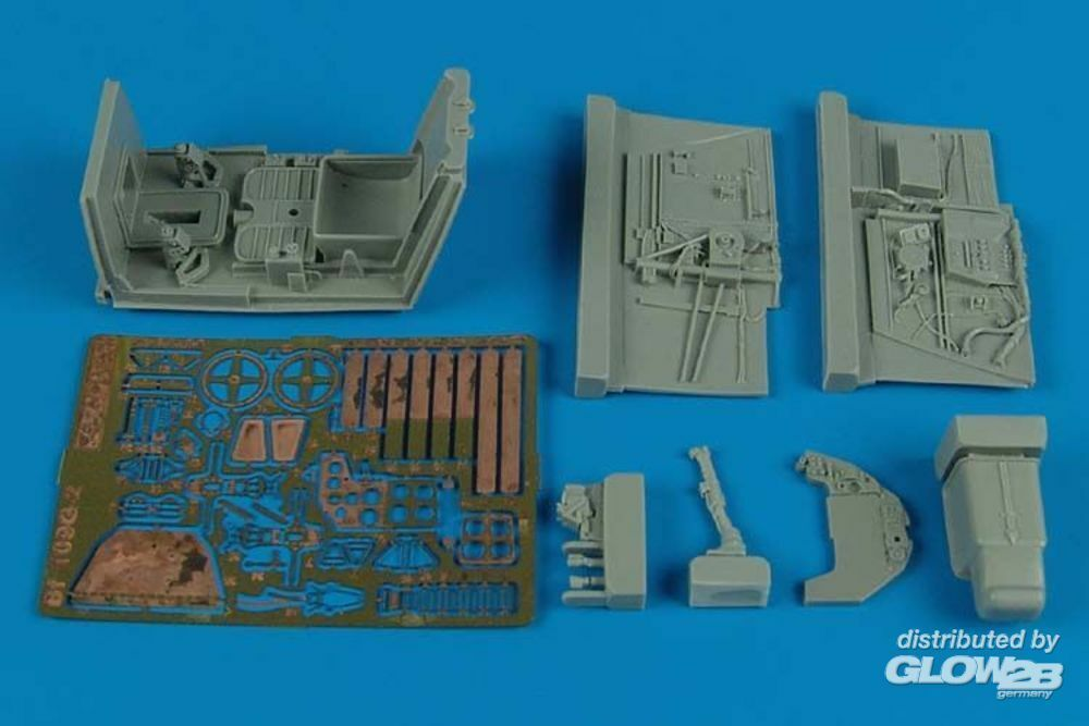 Aires 2142 Bf 109G-2 cockpit set for Trumpeter in 1:32