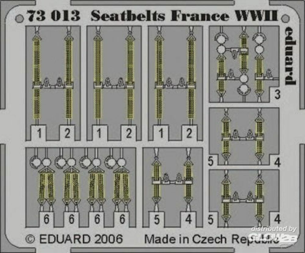 Eduard Accessories 73013 Seatbelts France WWII in 1:72
