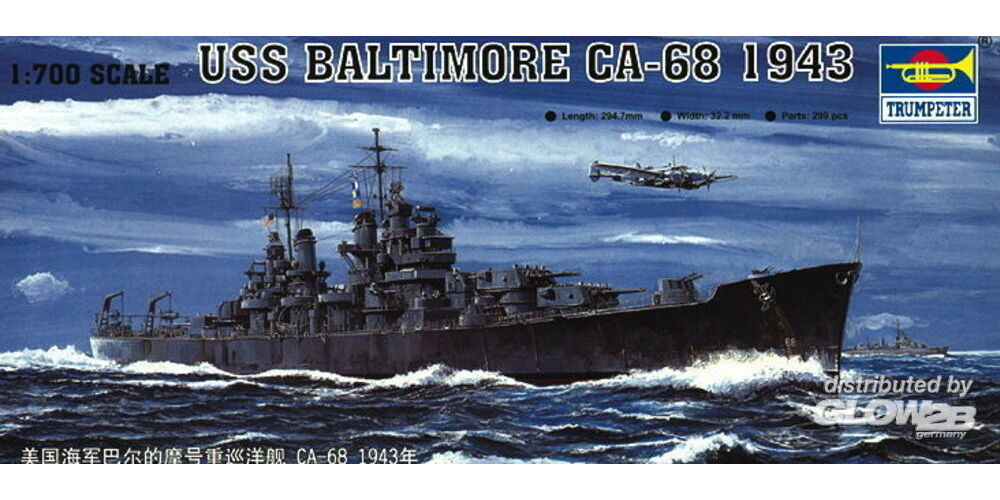 Trumpeter 05724 USS Baltimore CA-68 1943 in 1:700