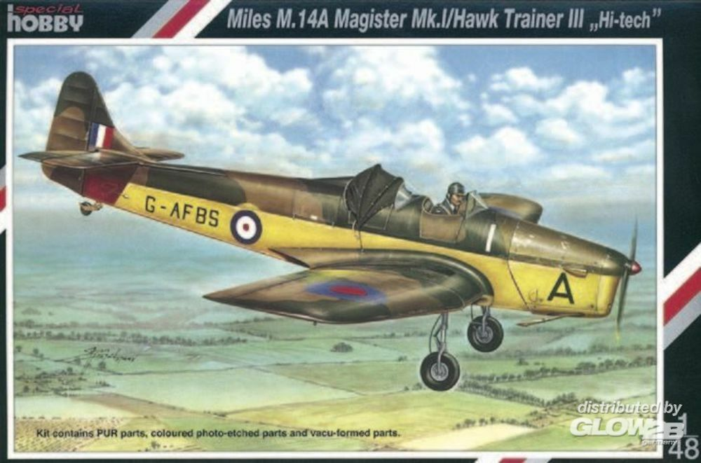 Special Hobby 100-SH48037 Miles M.14A Magister Mk.I Hawk Trainer III ``Hi-tech`` in 1:48
