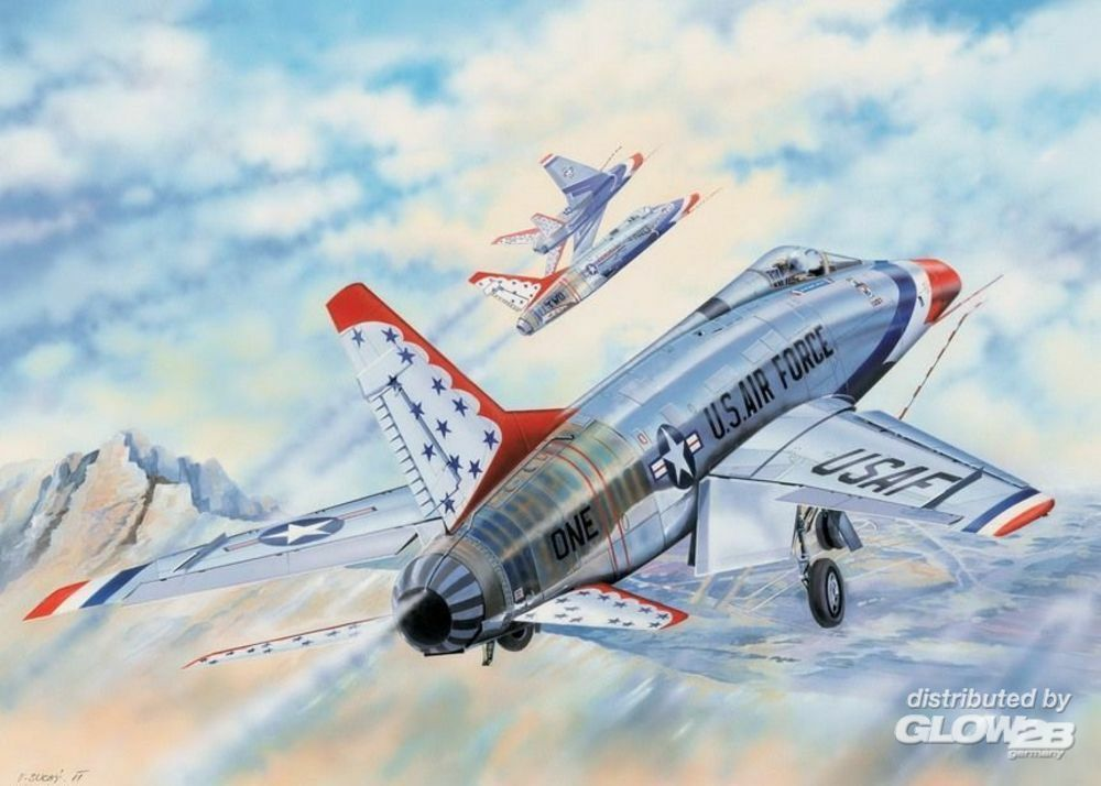 Trumpeter 03222 F-100D in Thunderbirds livery in 1:32