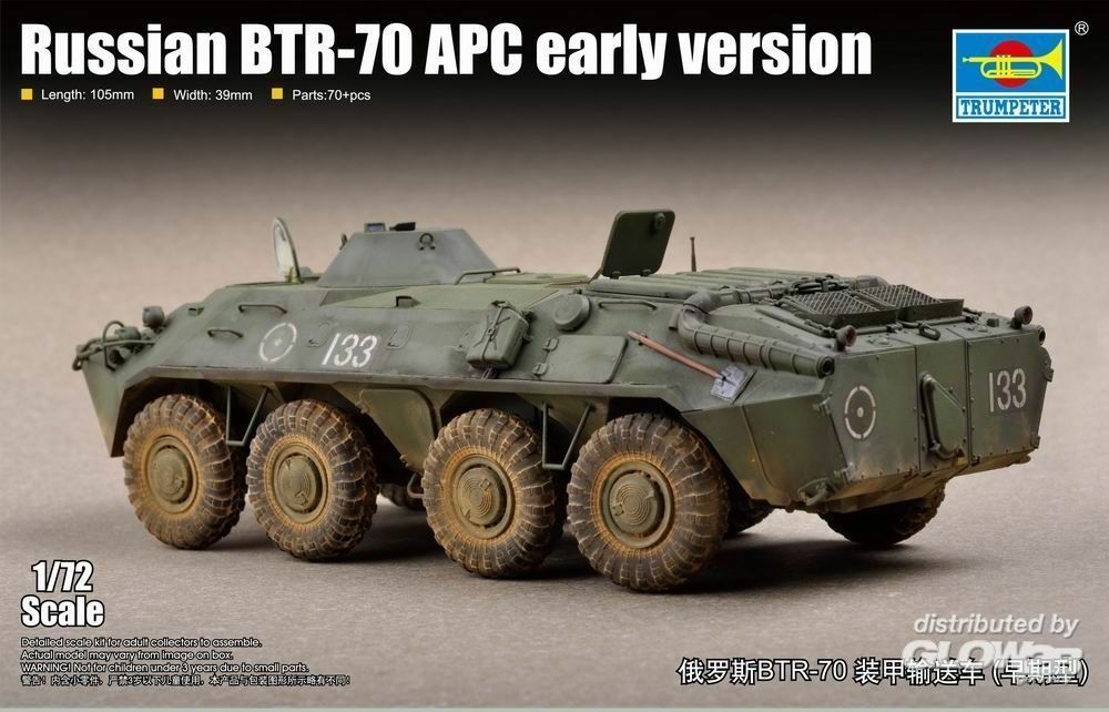 Trumpeter 07137 Russian BTR-70 APC early version in 1:72