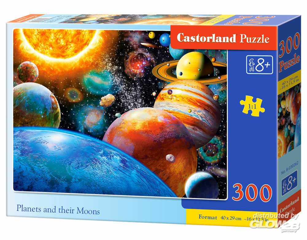 Castorland B-030262 Planets and their Moons,Puzzle 300 Teile