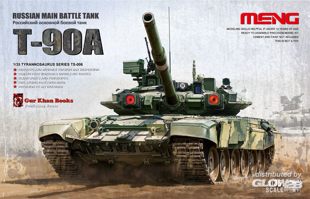 MENG-Model TS-006 Russian Main Battle Tank T-90A in 1:35