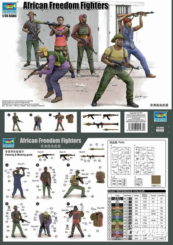 Trumpeter 00438 African Freedom Fighters in 1:35