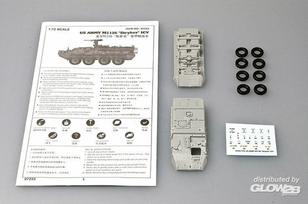 Trumpeter 07255 ``Stryker`` Light Armored Vehicle (ICV) in 1:72