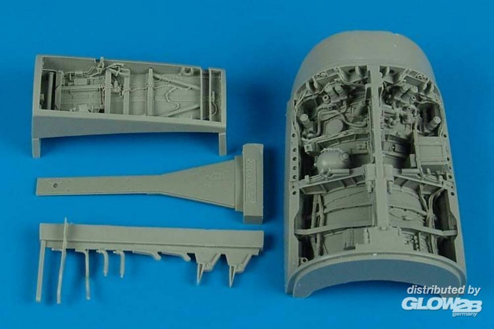 Aires 2129 F-16l Sufa wheel bay for Academy in 1:32