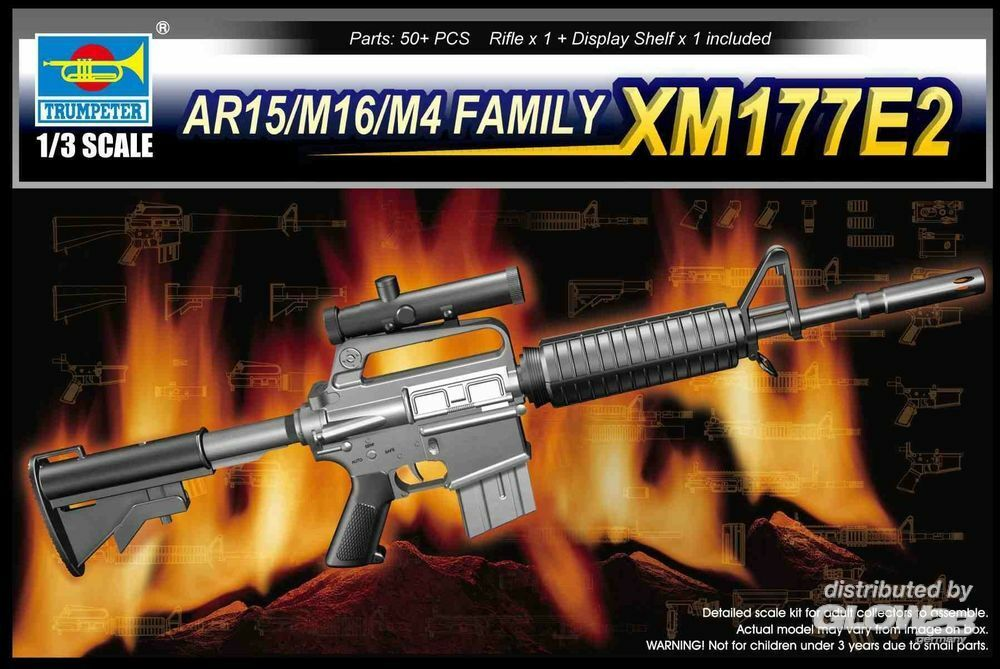 Trumpeter 01905 AR15/M16/M4 Family-XM177E2 in 1:3