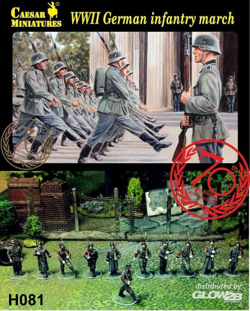 Caesar Miniatures H081 WWII German Infantry Marching in 1:72