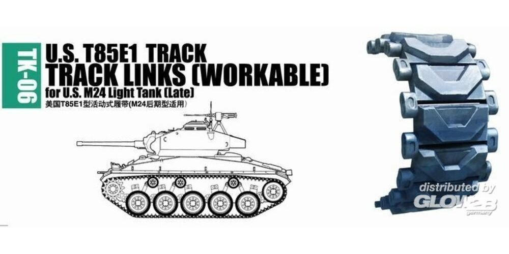 Trumpeter 02036 U.S. T85E1 track for M24 light tank (late)