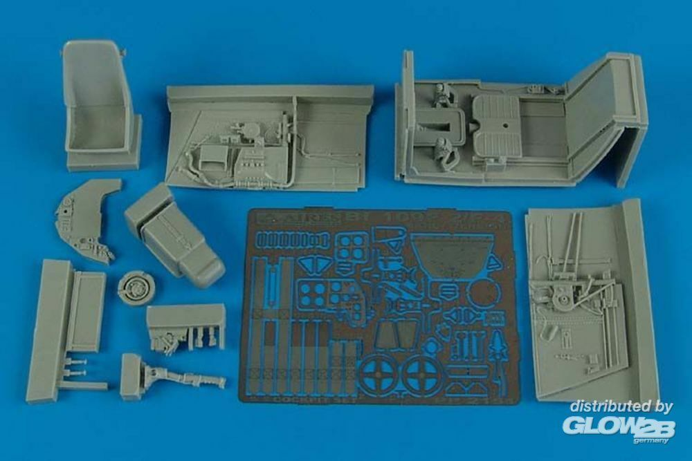 Aires 2151 Bf 109F-2/F-4 early cockpit set (HAS) in 1:32