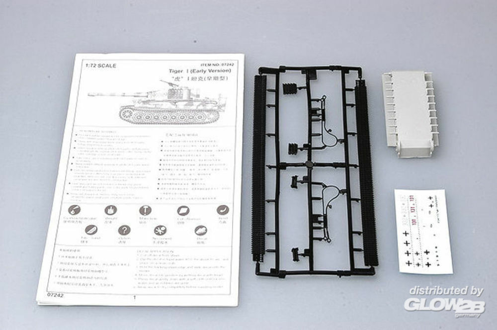 Trumpeter 07242 Tiger 1 Tank (Early) in 1:72