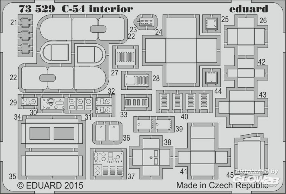 Eduard Accessories 73529 C-54 interior S.A. for Revell in 1:72