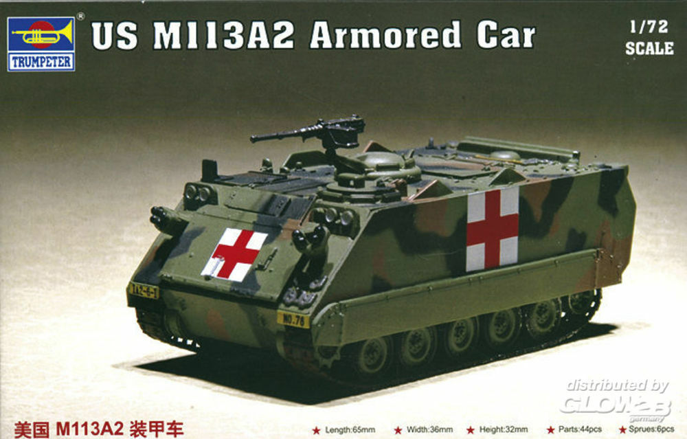 Trumpeter 07239 US M113A2 Armored Car in 1:72