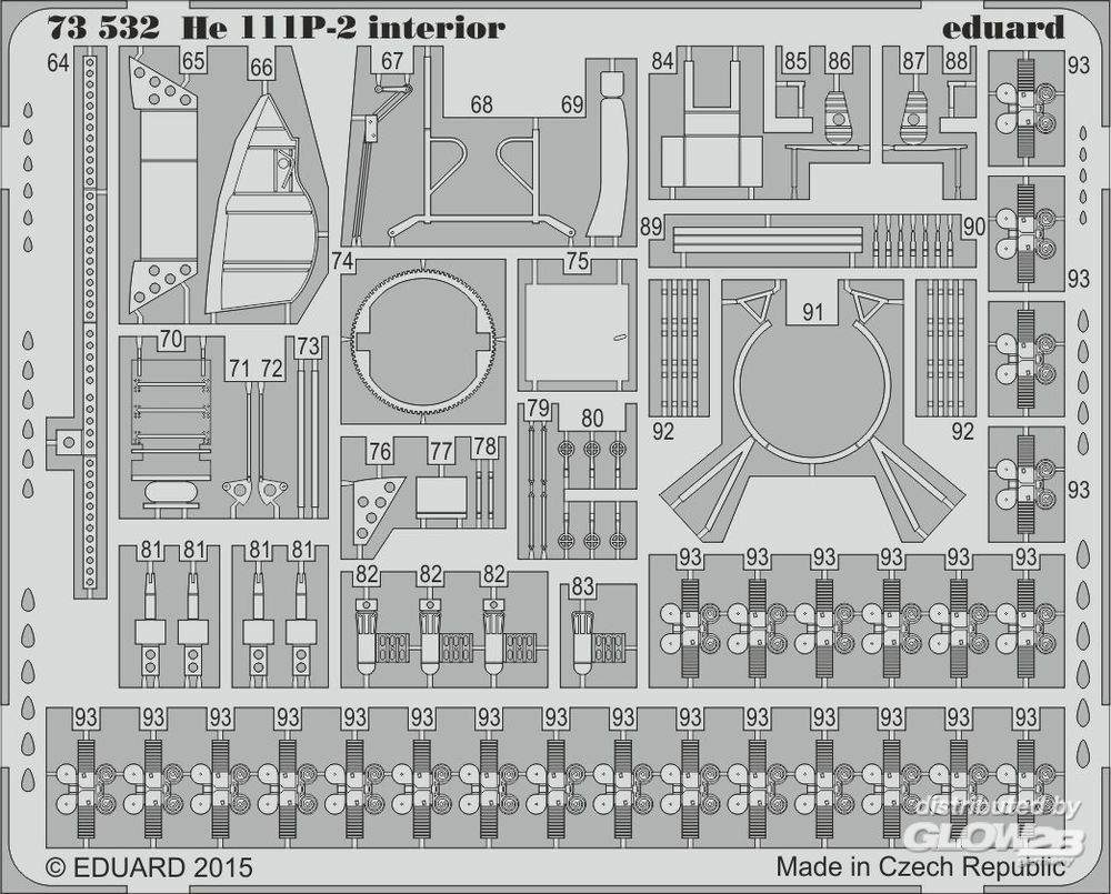 Eduard Accessories 73532 He 111P-2 interior S.A. for Airfix in 1:72