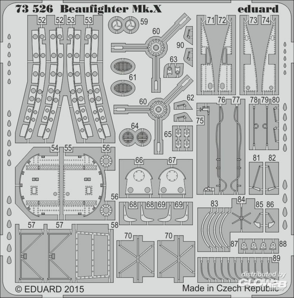 Eduard Accessories 73526 Beaufighter Mk.X for Airfix in 1:72