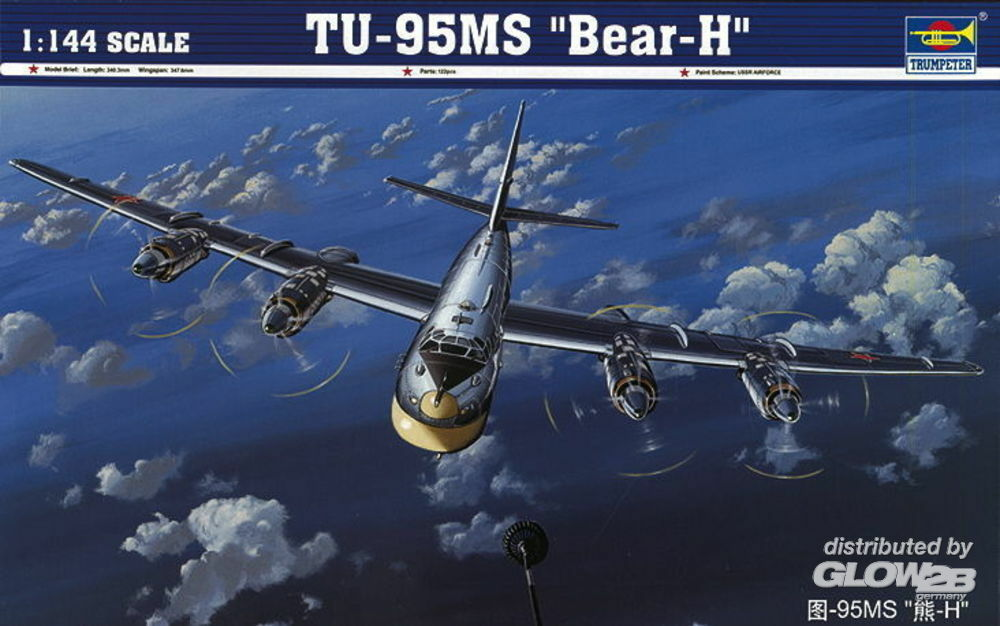Trumpeter 03904 TU-95MS ``Bear-H`` in 1:144