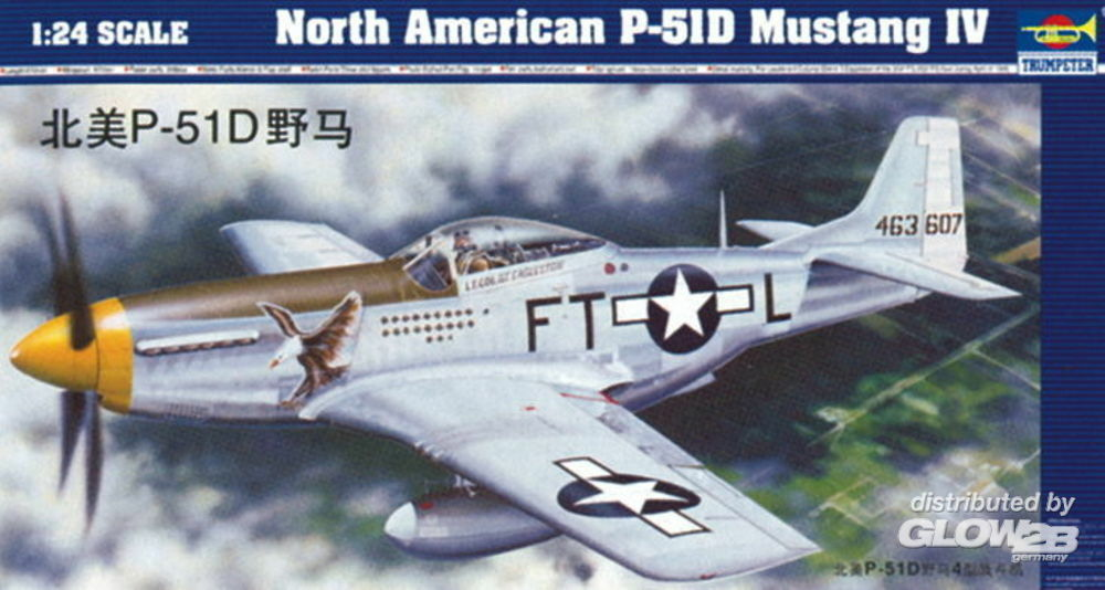 Trumpeter 02401 North American P-51 D Mustang IV in 1:24
