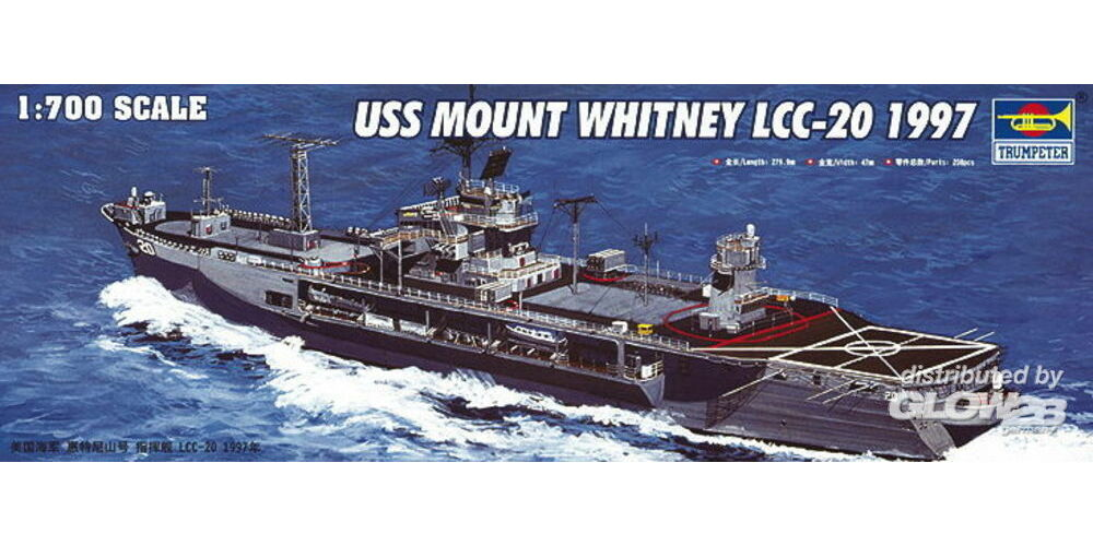 Trumpeter 05719 USS Mount Whitney LCC-20 1997 in 1:700
