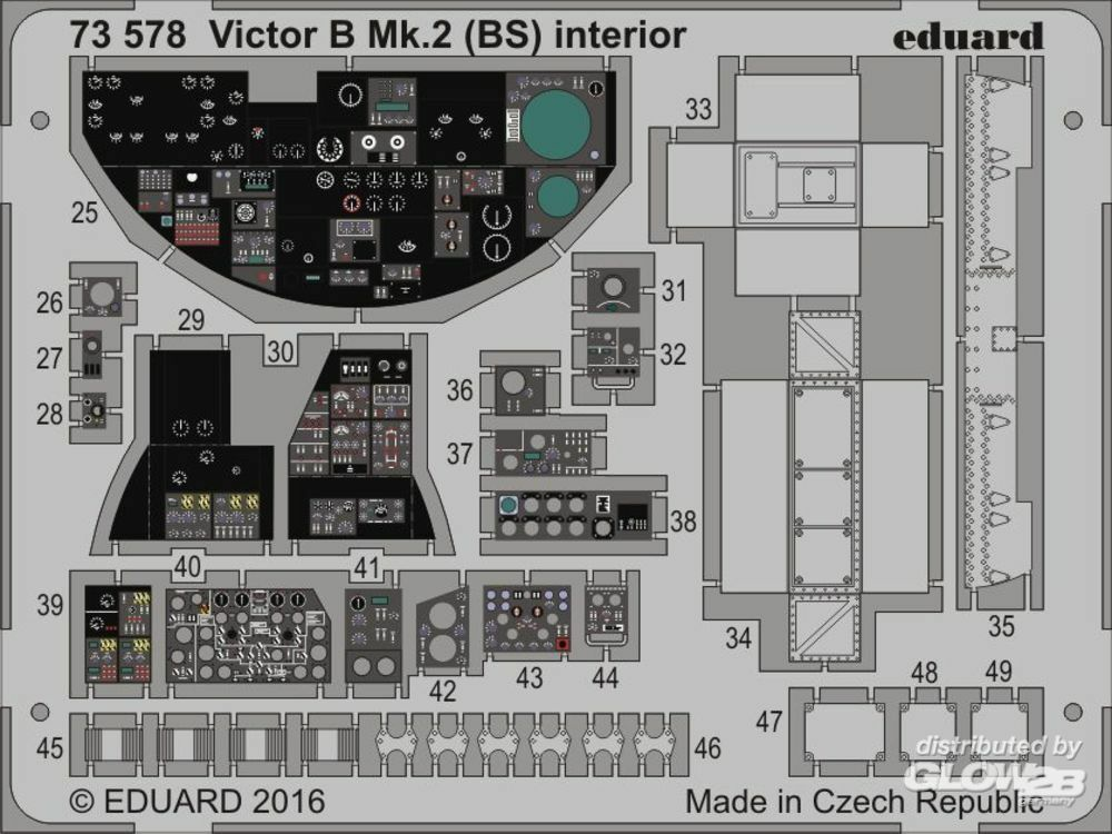 Eduard Accessories 73578 Victor B Mk.2 (BS)interior f. Airfix in 1:72