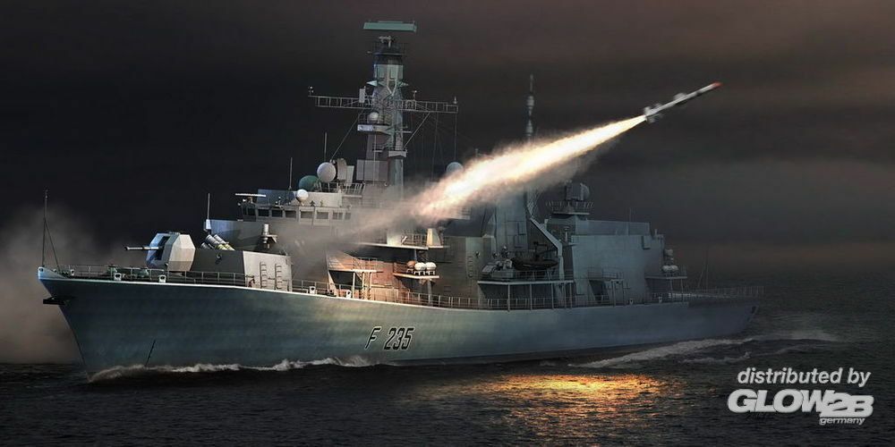 Trumpeter 04547 HMS TYPE 23 Frigate - Monmouth (F235) in 1:350