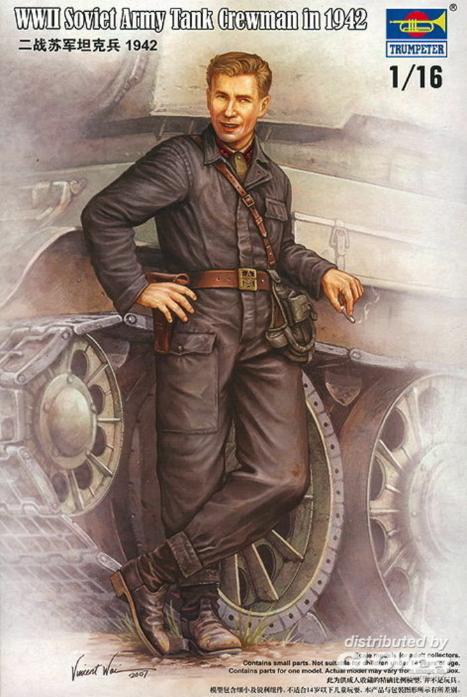 Trumpeter 00701 WWII Soviet Army Tank Crewman 1942 in 1:16