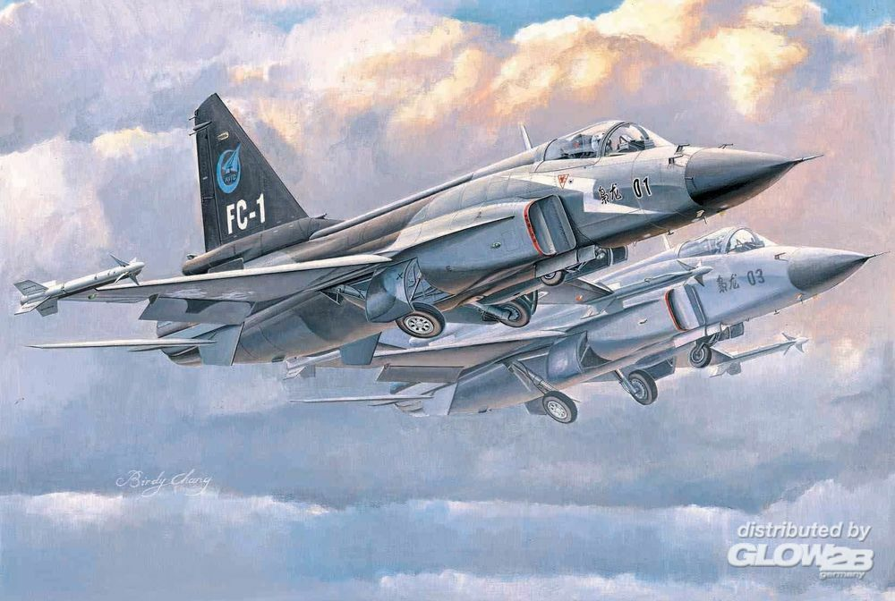 Trumpeter 01658 Chinese FC-1 Prototype 01 & 03 in 1:72