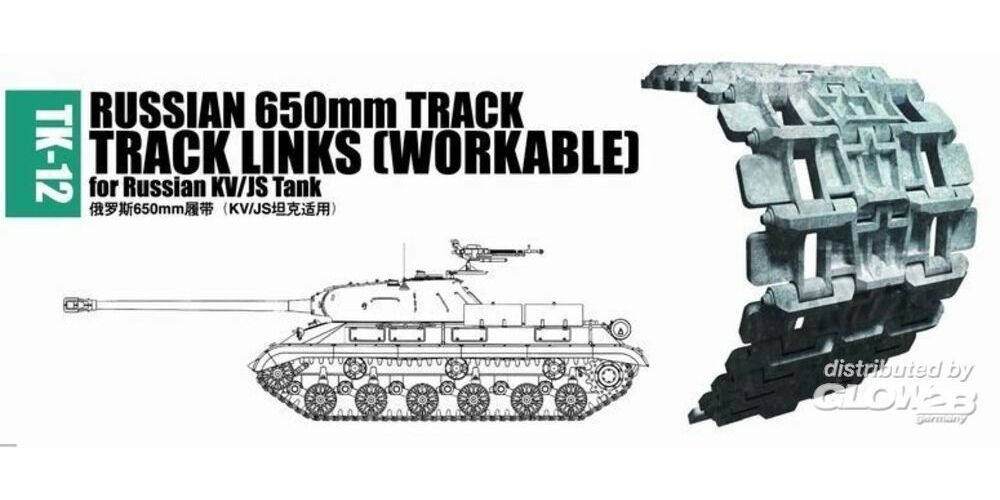 Trumpeter 02042 Russian 650mm track for Russian KV/JS tank