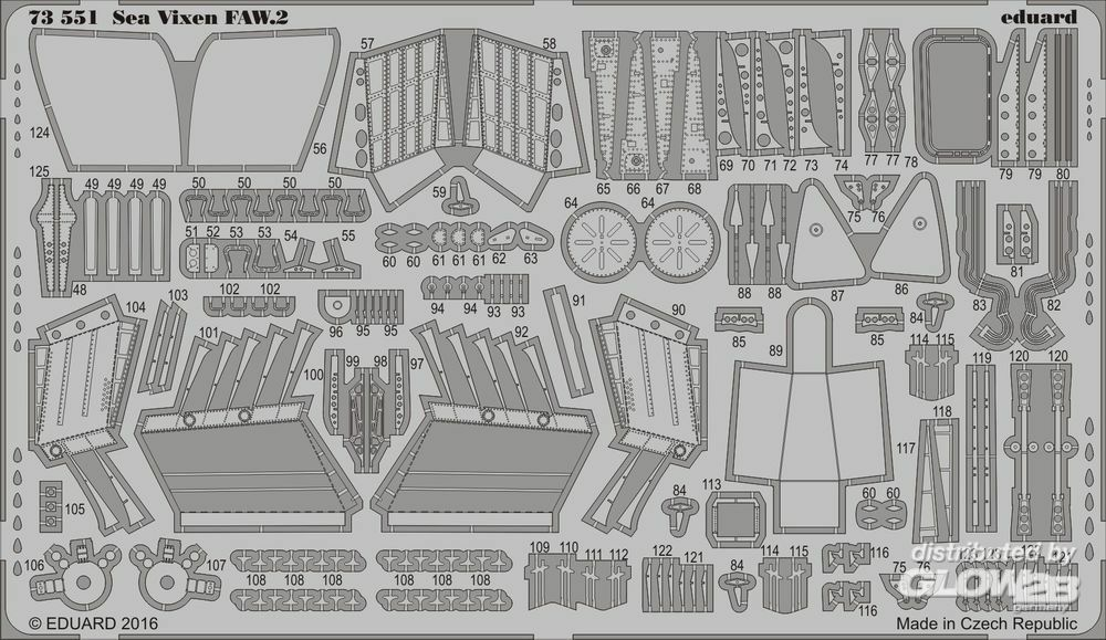 Eduard Accessories 73551 Sea Vixen FAW.2 for Cyber Hobby in 1:72