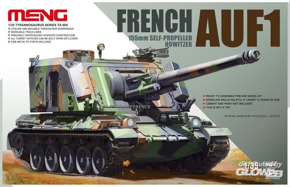 MENG-Model TS-004 French AUF1 155mm Self-propelled Howitze in 1:35