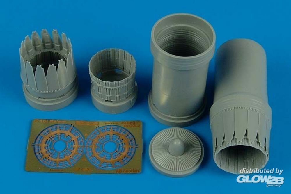 Aires 4496 F-15l Ra`am exhaust nozzles for Revell in 1:48