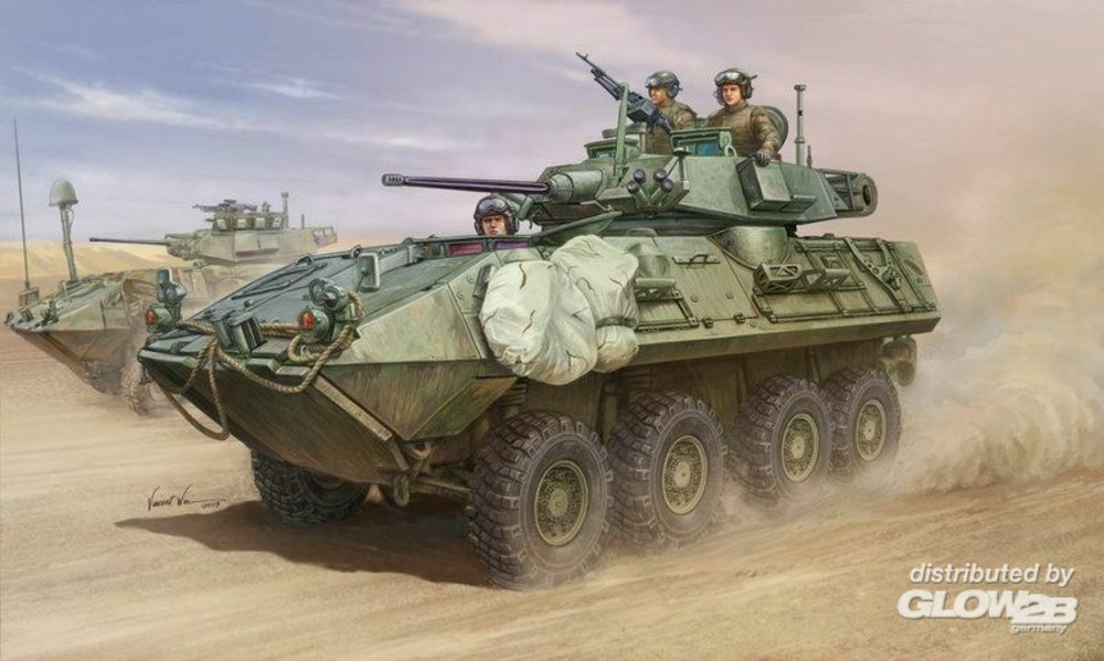 Trumpeter 01521 LAV-A2 8x8 wheeled armoured vehicle in 1:35