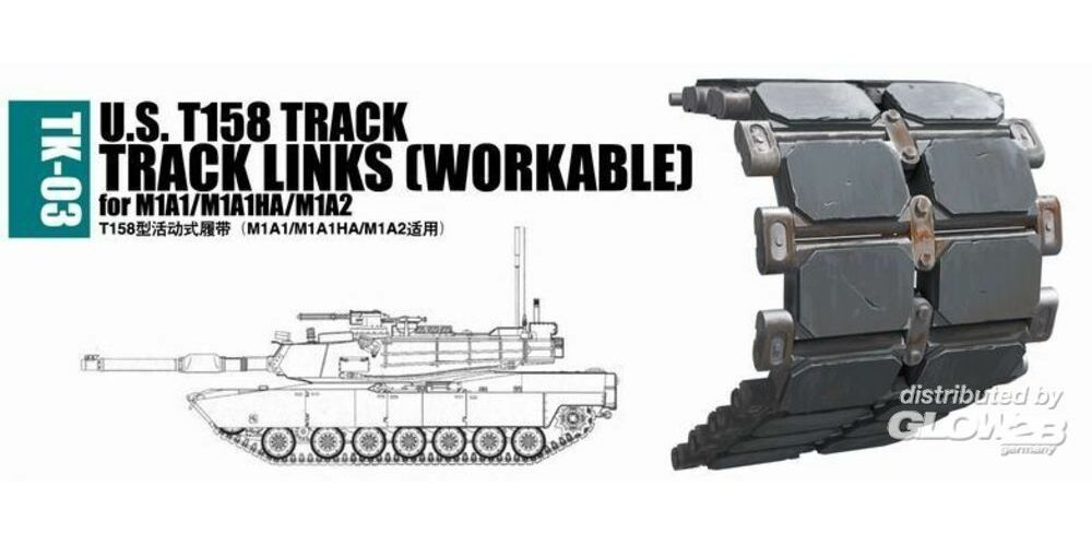 Trumpeter 02033 U.S. T158 track for M1A1/M1A1HA/M1A2
