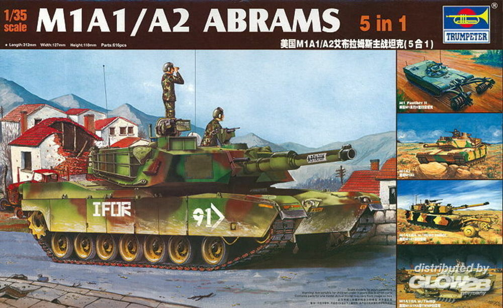 Trumpeter 01535 M1A1/A2 Abrams 5 in 1 in 1:35
