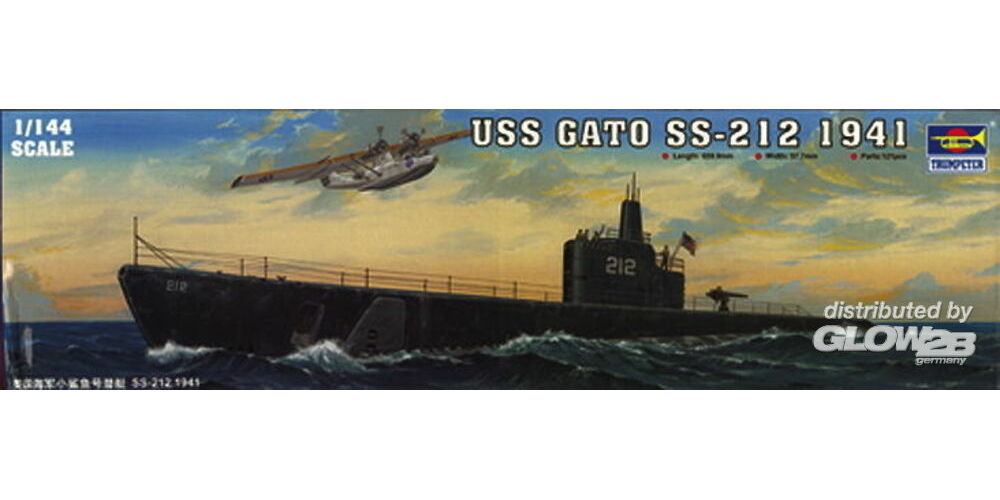 Trumpeter 05905 USS Gato SS-212 1941 in 1:144