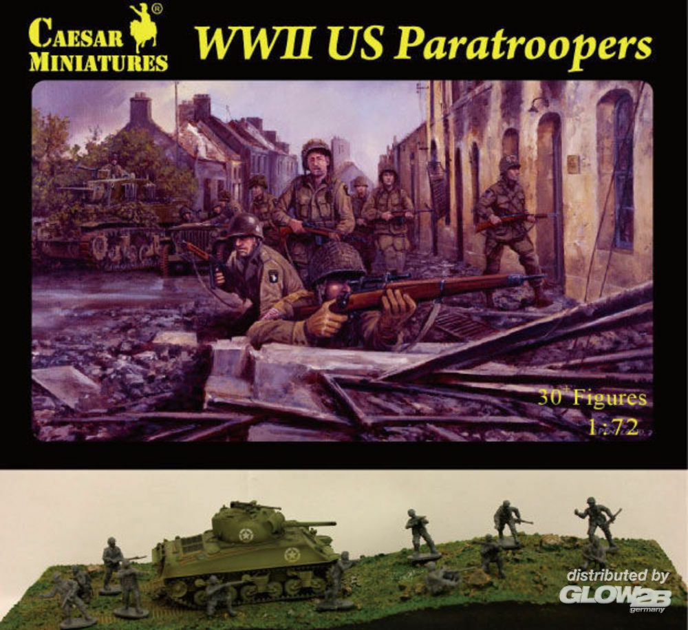 Caesar Miniatures H076 WWII US Paratroopers in 1:72