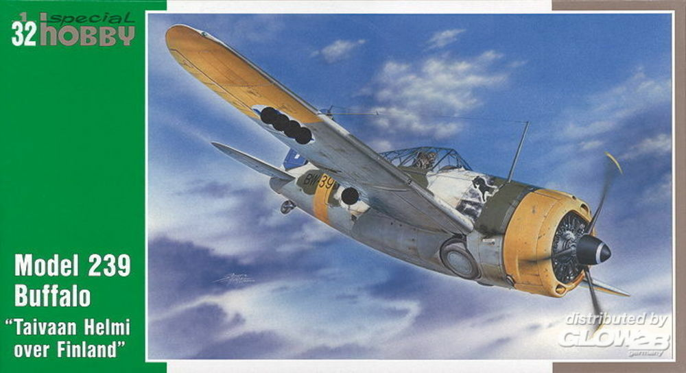 Special Hobby 100-SH32004 Model 239 F2A Buffalo Taivaan Helmi over Finland in 1:32