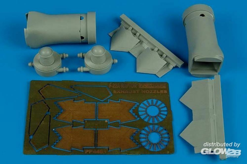 Aires 4481 F/A-22 Raptor exhaust nozzles-closed HAS in 1:48