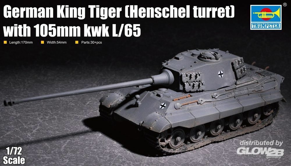 Trumpeter 07160 German King Tiger(Henschel turret) with 105mm kWh L/65 in 1:72