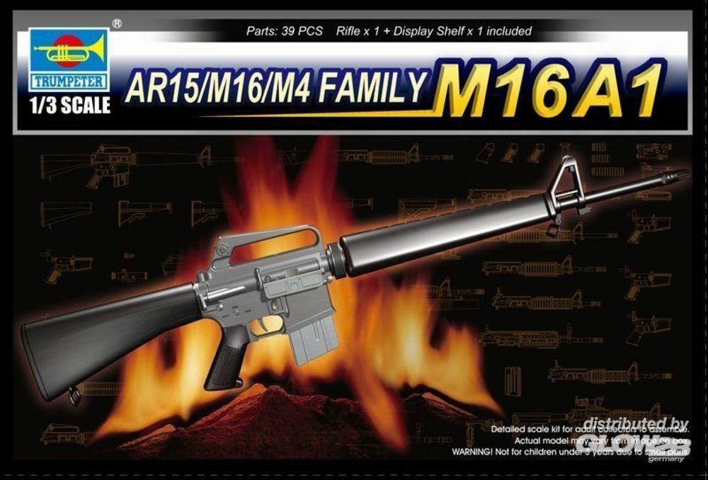 Trumpeter 01903 AR15/M16/M4 FAMILY-M16A1 in 1:3