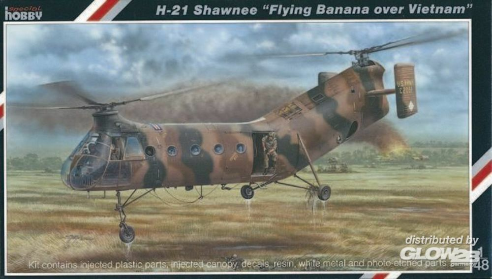 Special Hobby 100-SH48062 H-21 Shawnee Flying Banana over Vietnam in 1:48